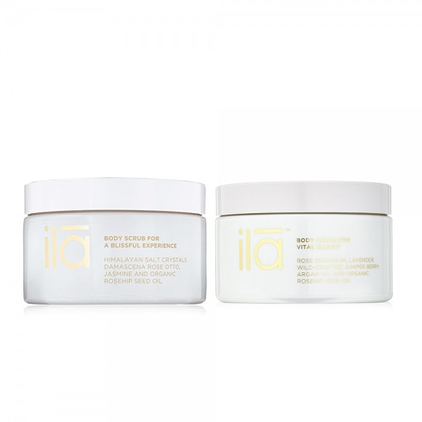 Body Scrub for a Blissful Experience & Body Cream for Vital Energy Duo