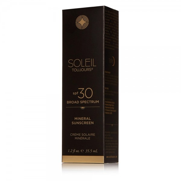 100% Mineral Sunscreen SPF 30 Travel Size | Soleil Toujours