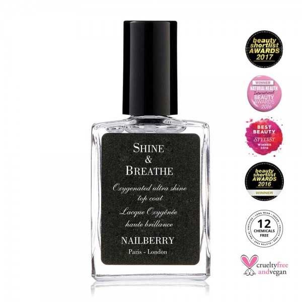 Shine & Breathe Oxygenated Ultra Shine Top Coat | Nailberry | Look Beautiful Products
