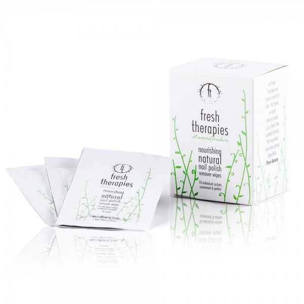 Nourishing Natural Nail Remover Wipes - Sachet Wipes Box | Fresh Therapies