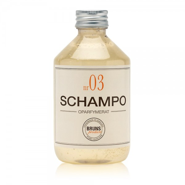 Nr. 03 Unscented Shampoo 330ml | BRUNS Products