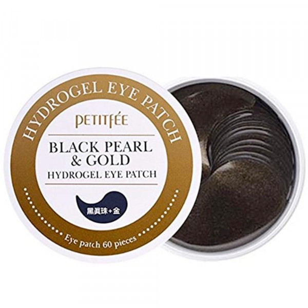 Black Pearl & Gold Hydrogel Eye Patches |Petitfée