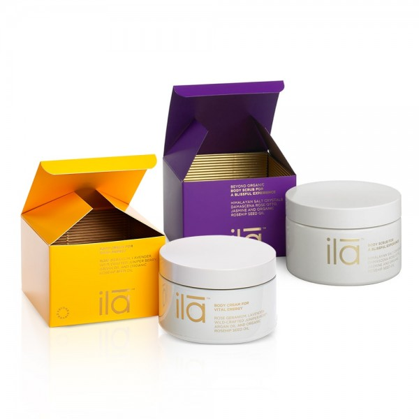 Body Scrub for a Blissful Experience & Body Cream for Vital Energy Duo  | Ila Spa