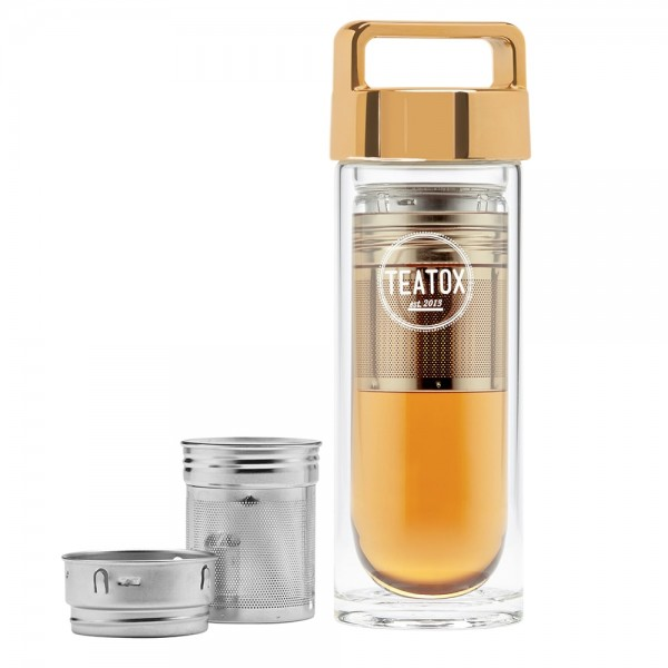 Thermo-Go Bottle, Gold, 330ml  | Teatox  | Look Beautiful Products