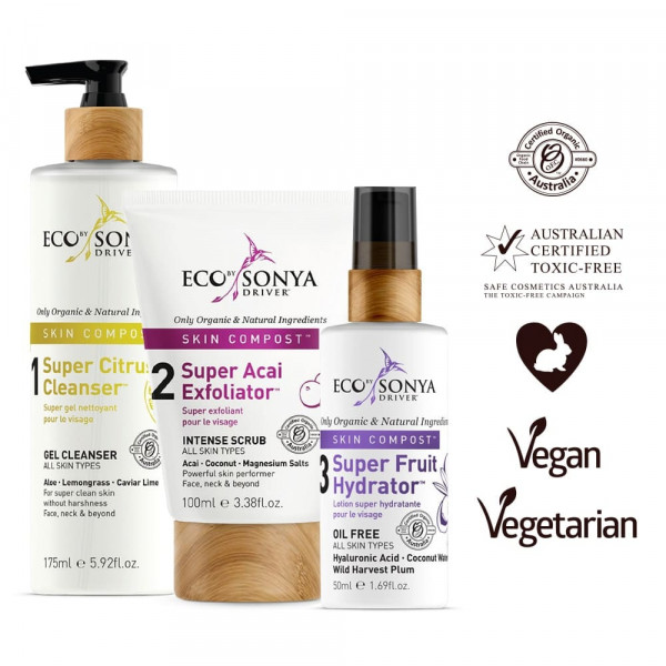 Skin Compost Collection Trio | Eco by Sonya| Look Beautiful Products