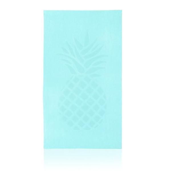 Beach towel pineapple in turquoise, 170 x 95 cm