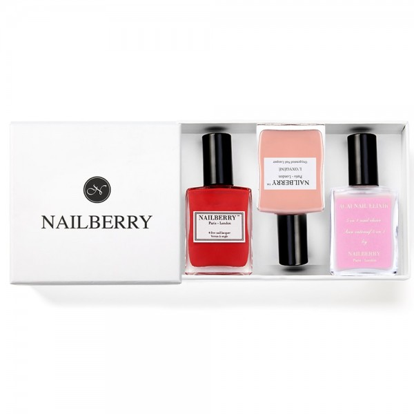 Nailberry Farbiger Nagellack & Pflege + Geschenkbox (Varianten) | Nailberry